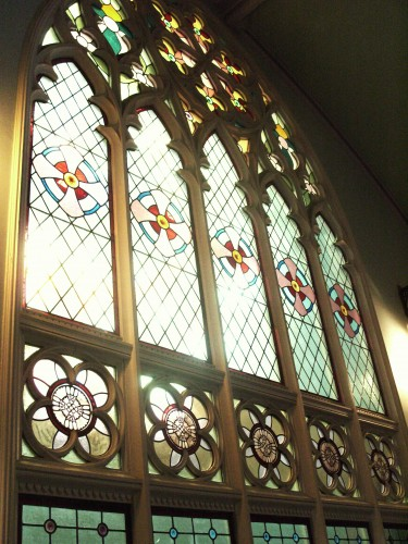 One of myriad beautiful stained glass windows