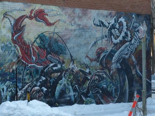 aliens wall