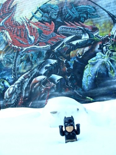 batman in snow and wall - b